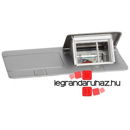 Legrand Pop-up felnyíló süllyesztett padlódoboz 6 (2×3) modul, alumínium, üres 054012