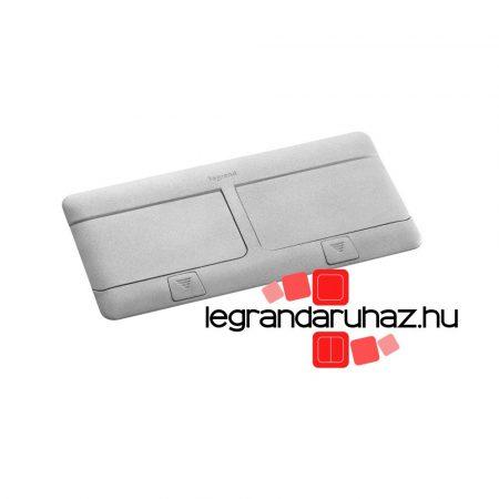 Legrand Pop-up felnyíló süllyesztett padlódoboz 8 (2×4) modul, alumínium, üres 054013