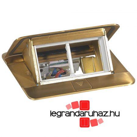 Legrand Pop-up felnyíló süllyesztett padlódoboz 4 modul, sárgaréz, üres 054016