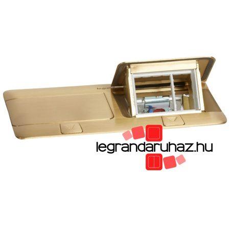 Legrand Pop-up felnyíló süllyesztett padlódoboz 6 (2×3) modul, sárgaréz, üres 054017