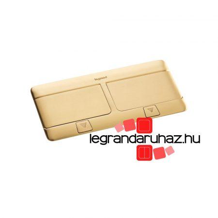 Legrand Pop-up felnyíló süllyesztett padlódoboz 8 (2×4) modul, sárgaréz, üres 054018