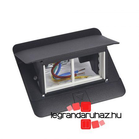 Legrand Pop-up felnyíló süllyesztett padlódoboz 4 modul, fekete, üres 054026