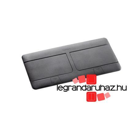 Legrand Pop-up felnyíló süllyesztett padlódoboz 8 (2×4) modul, fekete, üres 054028