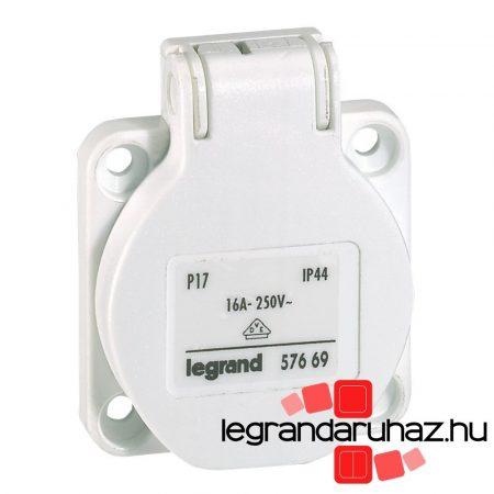 Legrand P17 Tempra háztartási aljzat, fehér IP44 057669
