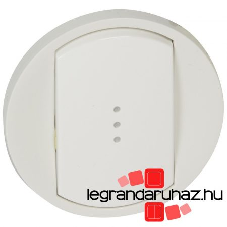 Legrand Céliane széles billentyű, fényjelzős, fehér 068003