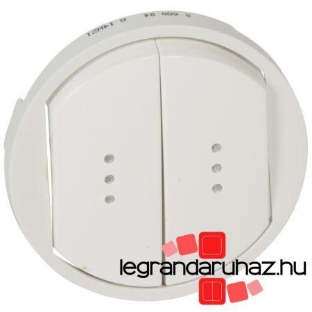 Legrand Céliane kettős billentyű, fényjelzős, fehér 068004