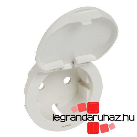 Legrand Céliane 2P+F csatlakozóaljzat burkolat, csapófedeles, fehér 068140
