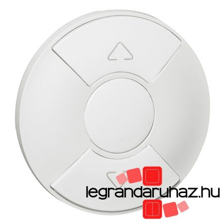 Legrand Céliane redőnykapcsoló/nyomó burkolat, fehér 068151