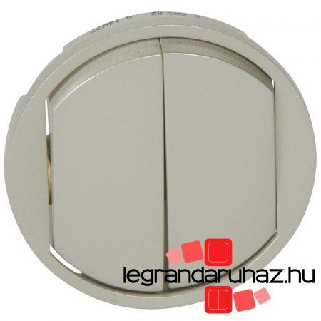Legrand Céliane kettős billentyű, titán 068302