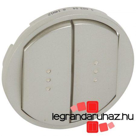 Legrand Céliane kettős billentyű, fényjelzős, titán 068304