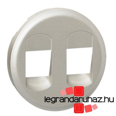 Legrand Céliane 2Xhangszóró csatlakozóaljzat burkolat, titán 068512
