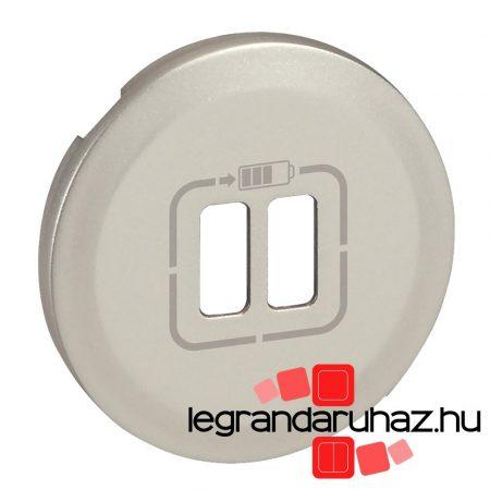 Legrand Céliane 2xUSB töltőaljzat burkolat, titán 068556