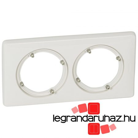 Legrand Céliane kettős keret, IP44 fehér 069072