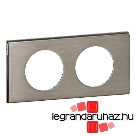 Legrand Céliane kettős keret, rozsdamentes acél 069102