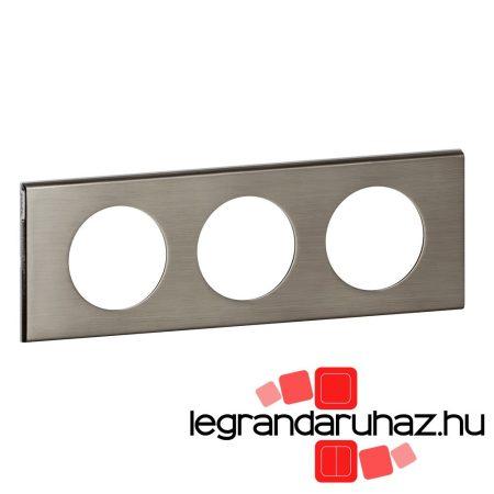 Legrand Céliane hármas keret, rozsdamentes acél 069103