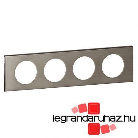 Legrand Céliane négyes keret, rozsdamentes acél 069104