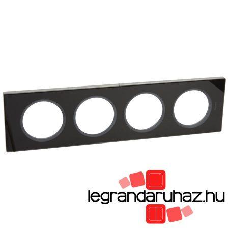 Legrand Céliane négyes keret, feketeüveg 069304