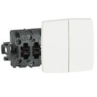 Legrand Oteo falon kívüli kettős váltókapcsoló fehér 086120