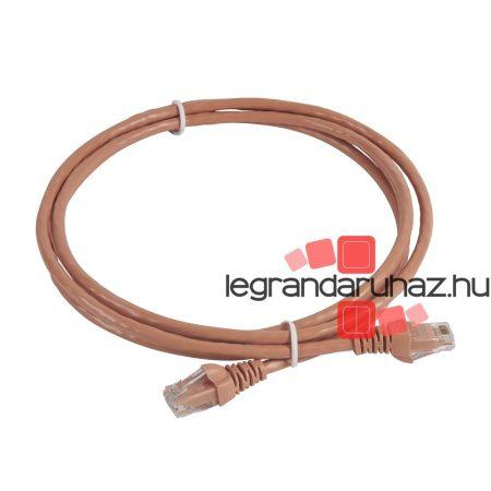 Legrand patch kábel RJ45-RJ45 Cat5e árnyékolatlan (U/UTP) PVC 2 méter világos rózsaszín d: 5.4mm AWG24 Linkeo 632732