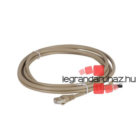 Legrand Linkeo patch kábel Cat5e FTP PVC világos barna 3m 632742