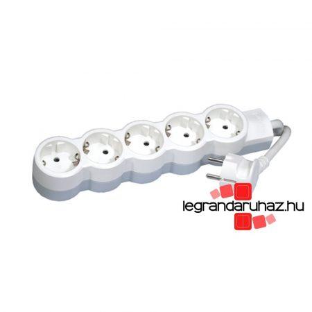Legrand 5x2P+F elosztósor ST, 5m vezetékkel, fehér-szürke 695013