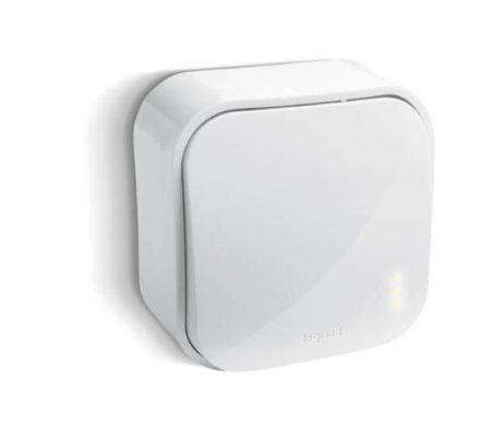 Legrand Oteo falonkívüli váltókapcsoló, kerettel, fehér 696001