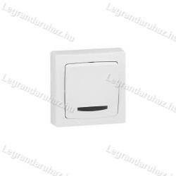 Legrand Oteo falonkívüli váltókapcsoló, fényjelzős, kerettel, fehér 696017