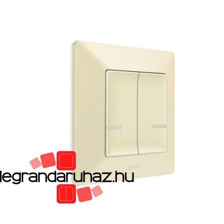 Legrand Valena Life Netatmo vezeték nélküli kapcsoló - kettős egypólusú elefántcsont 752287