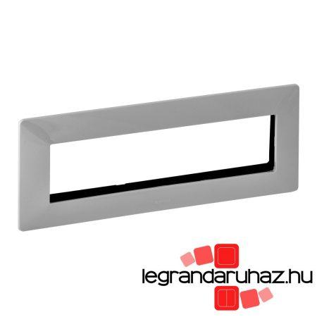 Legrand Valena Life 4x2 modulos keret, vízszintes alumínium 752345