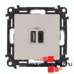 Legrand Valena Life töltőaljzat kettős USB C-típusú + USB A-típusú csatlakozóval, elefántcsont 753206