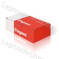 Legrand Valena egypólusú nyomó lámpajellel, alumínium 770112