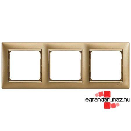 Legrand Valena keret hármas, vízszintes, matt arany 770303