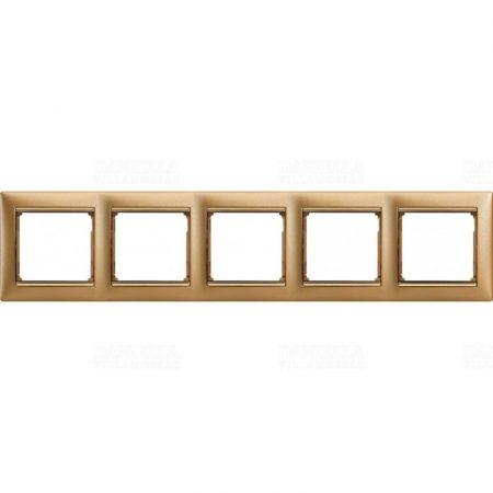 Legrand Valena keret ötös, matt arany 770305