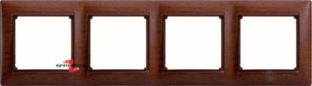 Legrand Valena keret négyes, ébenfa dekor 770314