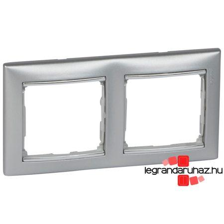 Legrand Valena kettős keret vízszintes Alumínium / Ezüst 770352