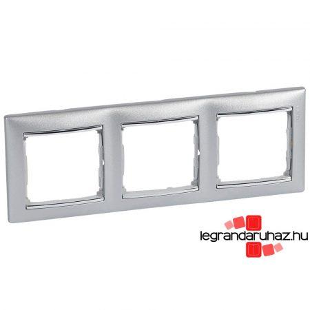 Legrand Valena hármas keret vízszintes Alumínium / Ezüst 770353