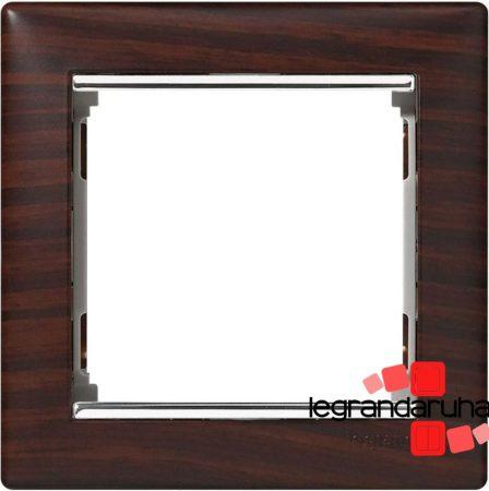 Legrand Valena egyes keret Wenge dekor / Ezüst, egyes keret 770371