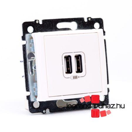 Legrand Valena 2 USB töltő aljzat, 1500 mA, fehér 770470