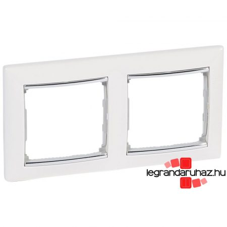 Legrand Valena kettős keret vízszintes Fehér / Ezüst 770492