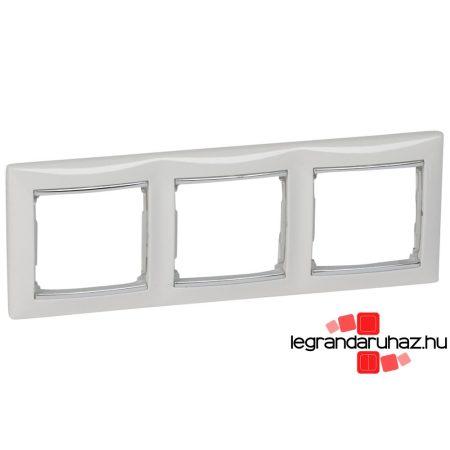 Legrand Valena hármas keret vízszintes Fehér / Ezüst 770493