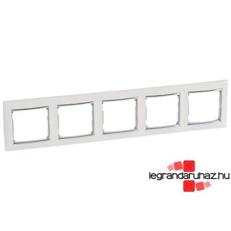 Legrand Valena ötös keret vízszintes Fehér / Ezüst 770495