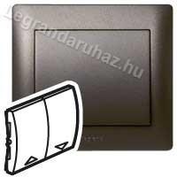 Legrand Galea Life redőnyvezérlő kettős billentyű, mélybronz 771214