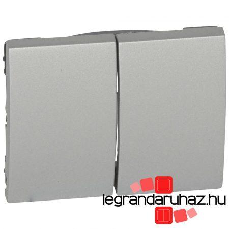 Legrand Galea Life kettős billentyű, alumínium 771312