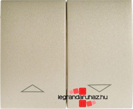 Legrand Galea Life redőnyvezérlő kettős billentyű titánium 771414