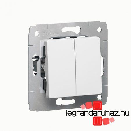 Legrand Cariva kettős váltókapcsoló keret nélkül fehér 773608