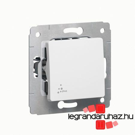 Legrand Cariva IP44 egypólusú kapcsoló, keret nélkül, fehér 773609
