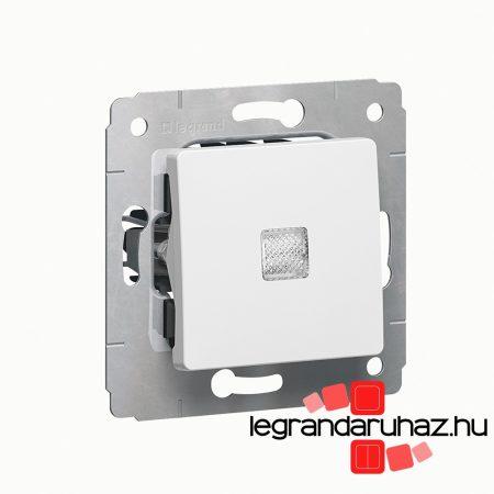 Legrand Cariva egypólusú kapcsoló ellenőrzőfénnyel, keret nélkül fehér 773610