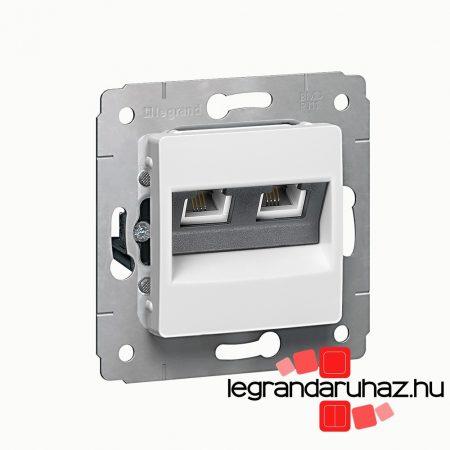 Legrand Cariva LCS2 2XRJ45 Cat6 UTP aljzat keret nélkül fehér 773642