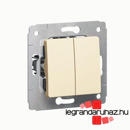 Legrand Cariva kettős váltókapcsoló keret nélkül bézs 773708