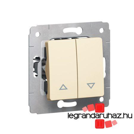 Legrand Cariva redőnykapcsoló nyomó keret nélkül bézs 773714